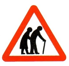 old persons crossing