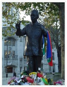 Mandela in Parliament Square