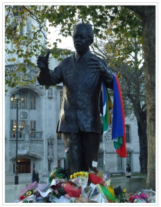 Mandela in Parliament Square