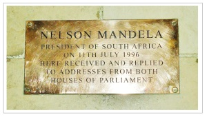 Mandela plaque Westminster