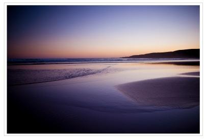 Wales beach at dusk
