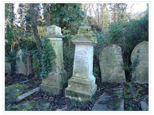 Victorian tombstones