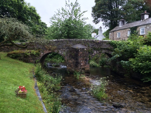 bridge in Cornish village