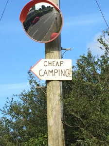 cheap camping sign