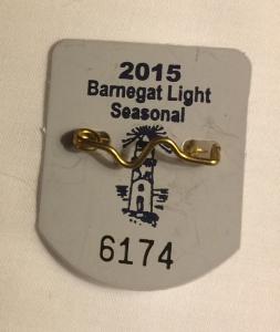 Barnegat Light beach badge 2015