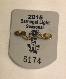 Barnegat Light beach badge 2015