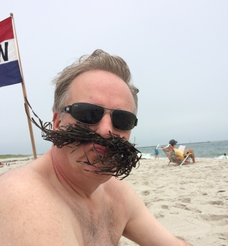seaweed to look like a moustache