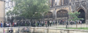 queue at Kings College Chapel