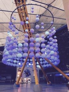 blue balls in O2 entrance