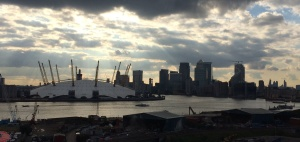 view of O2 and Docklands