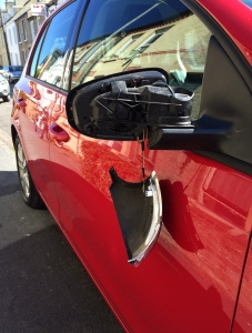 VW Golf wing mirror