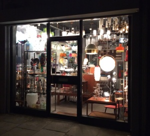 lighting shop in Camden Passage
