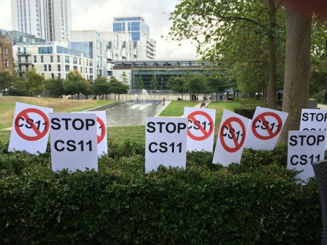 Protest against CS11