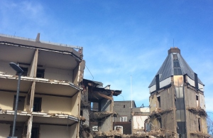 demolition of the Strachey Building