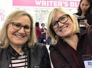 With fellow author Helena Halme